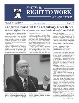 July 2015 NRTWC Newsletter Cover