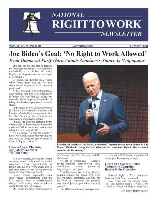 October 2020 National Right to Work Newsletter
