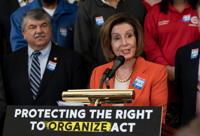 Richard Trumka, Nancy Pelosi