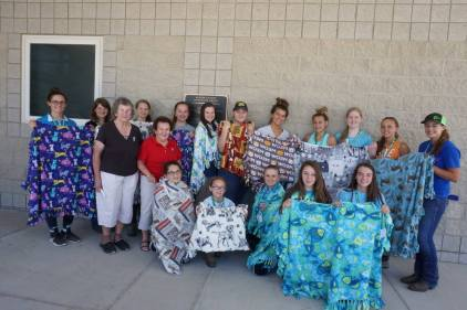 Thank you to the 4-H Horse Program for inviting NRV Project Linus to visit Hokie Horse Camp yesterday and make blankets with the attendees! We greatly enjoyed working with this wonderful group of young people!!