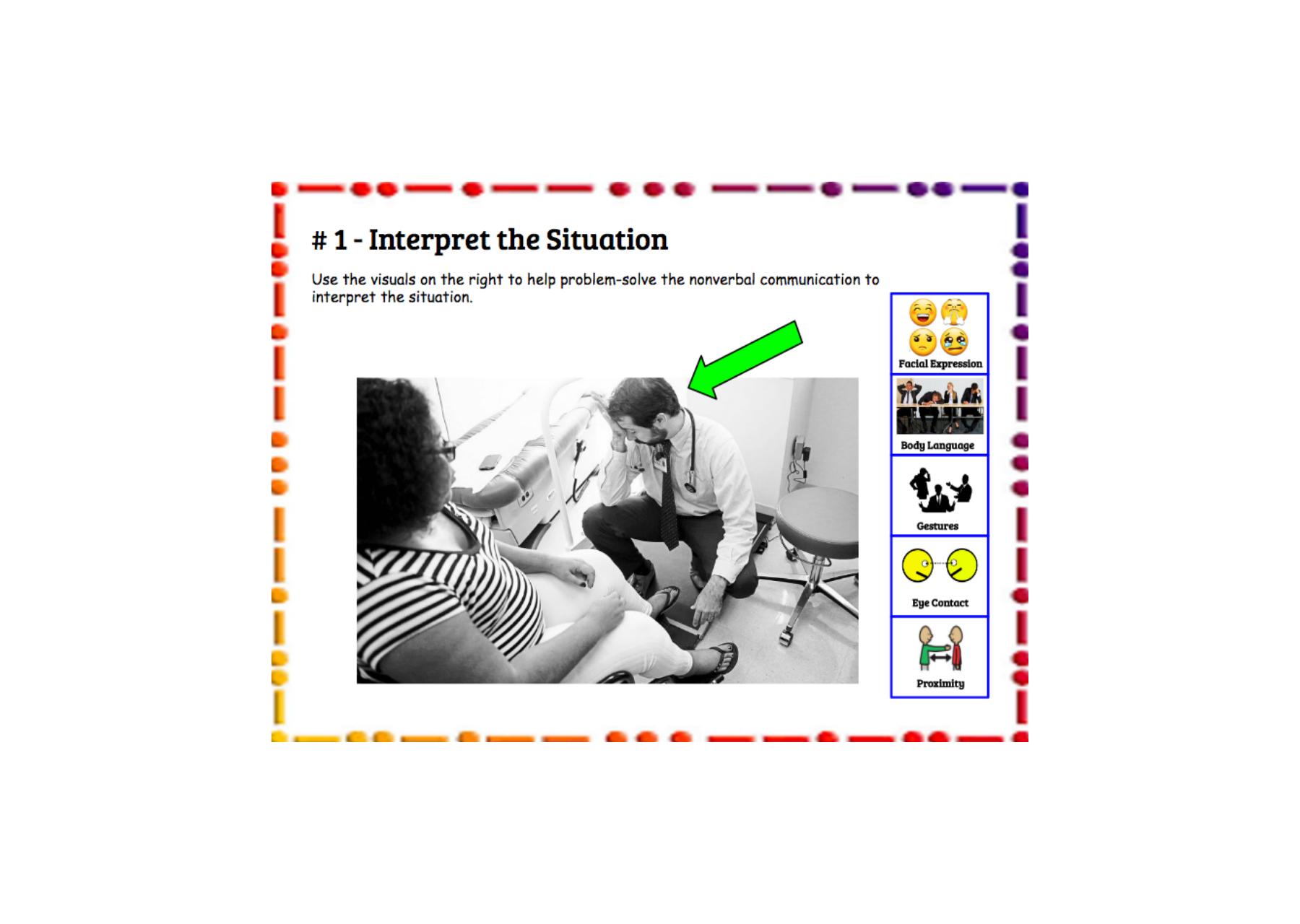 Interpret Scenarios Using Nonverbal Clues