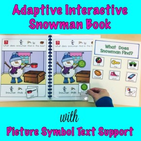 Interactive Adapted Snowman Book