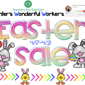 TpT Store Easter Sale