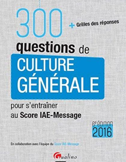 300 questions de culture générale 2016