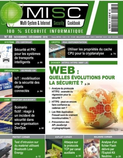 Multi-System & Internet Security Cookbook N°88 - Novembre/Decembre 2016