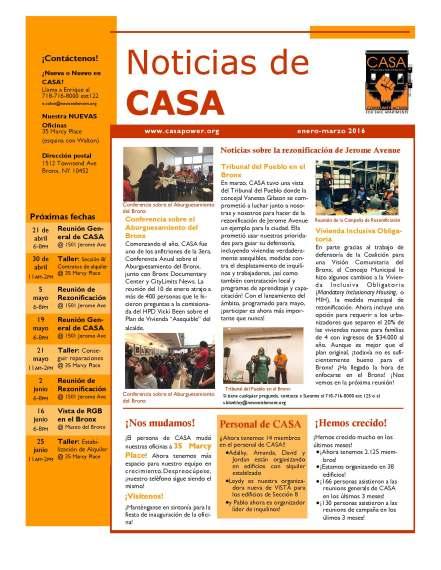 CASA Newsletter Jan-Mar 2016-Espanol web_Page_1