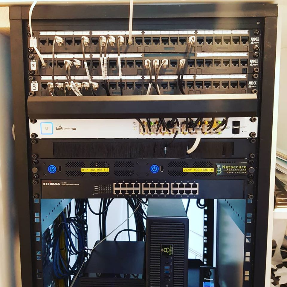 One clean Netsecure Automation rack