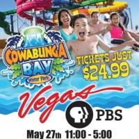 Vegas PBS KIDS Day at Cowabunga Bay, May 27-28 to Benefit Education #StayOutOfHeat #SummerFun #CowabungaBay
