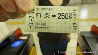 Kyoto Metro Ticket