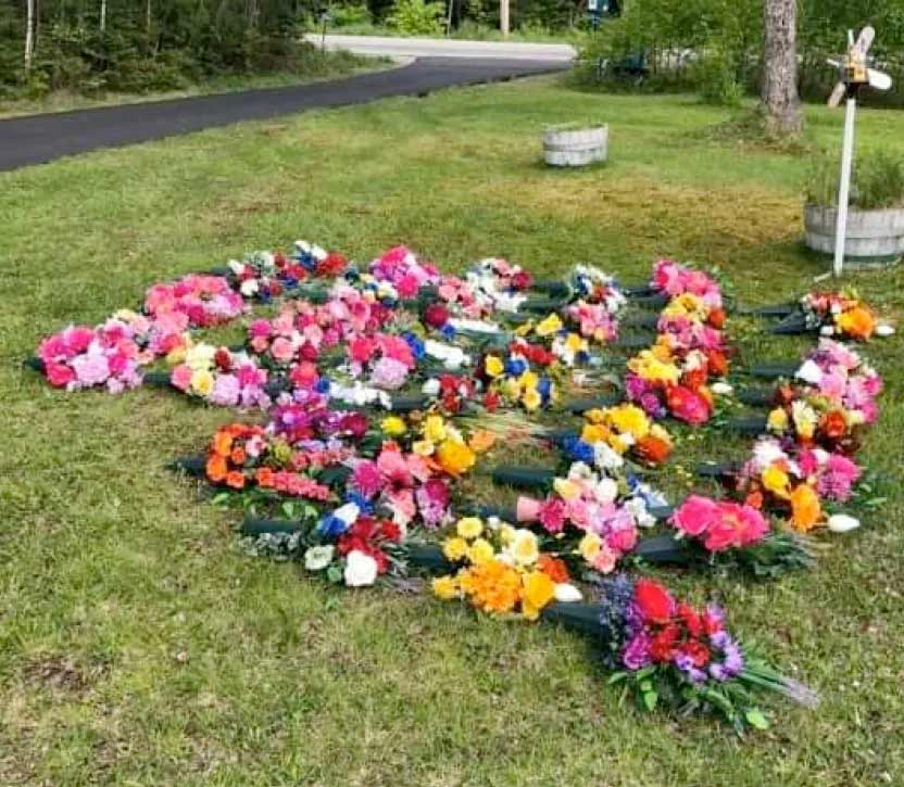 Silk Flowers Bloom For Those Who Died At Northwood Community Links Nova Scotia