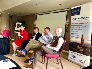 panel taking questions at Dundee event