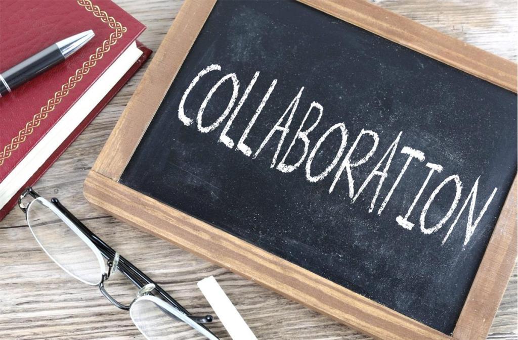 collaboration written on a challkboard