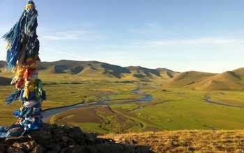 View of the modern-day Orkhon Valley near Karakorum