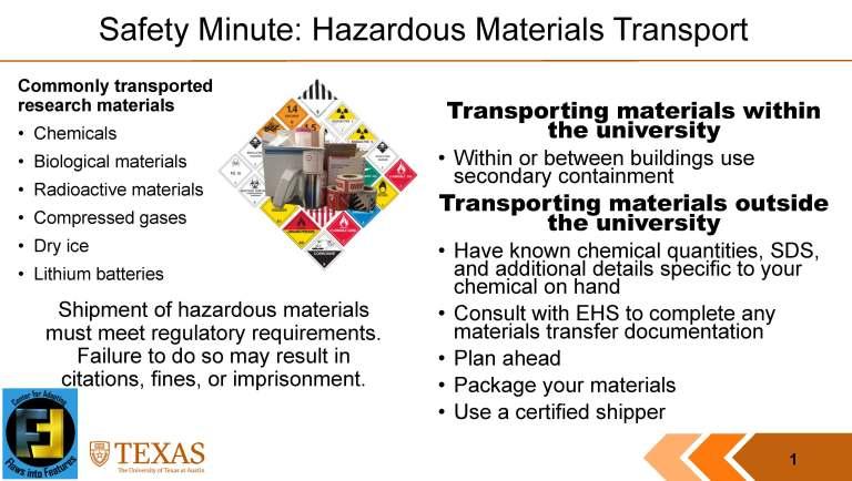 Safety: Hazardous Materials Transport