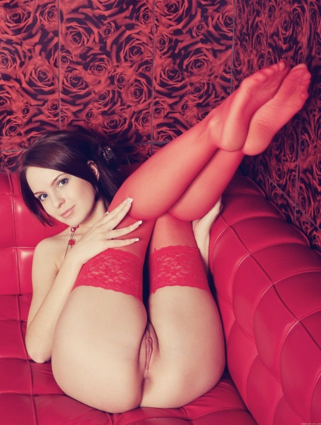 red stockings in a red room on a red couch.jpg