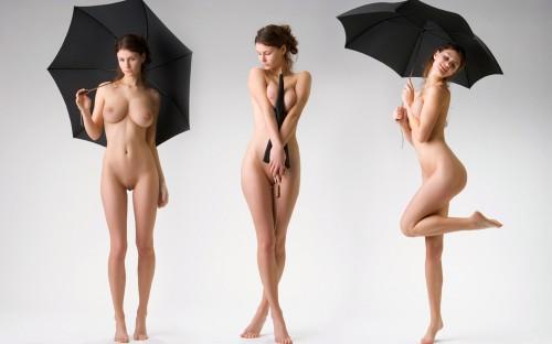 dancing umbrella girl