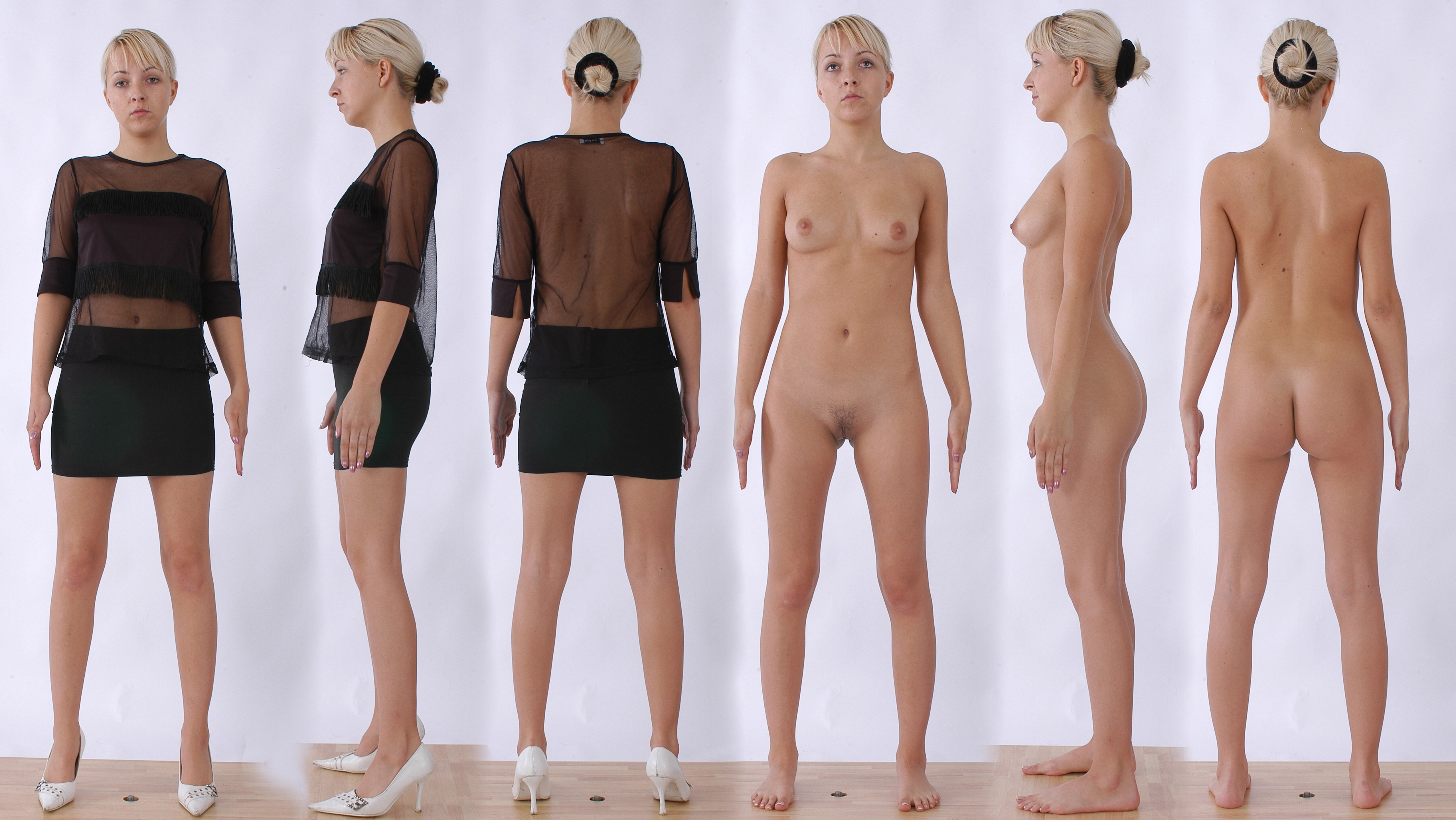 Standing Nude Before After