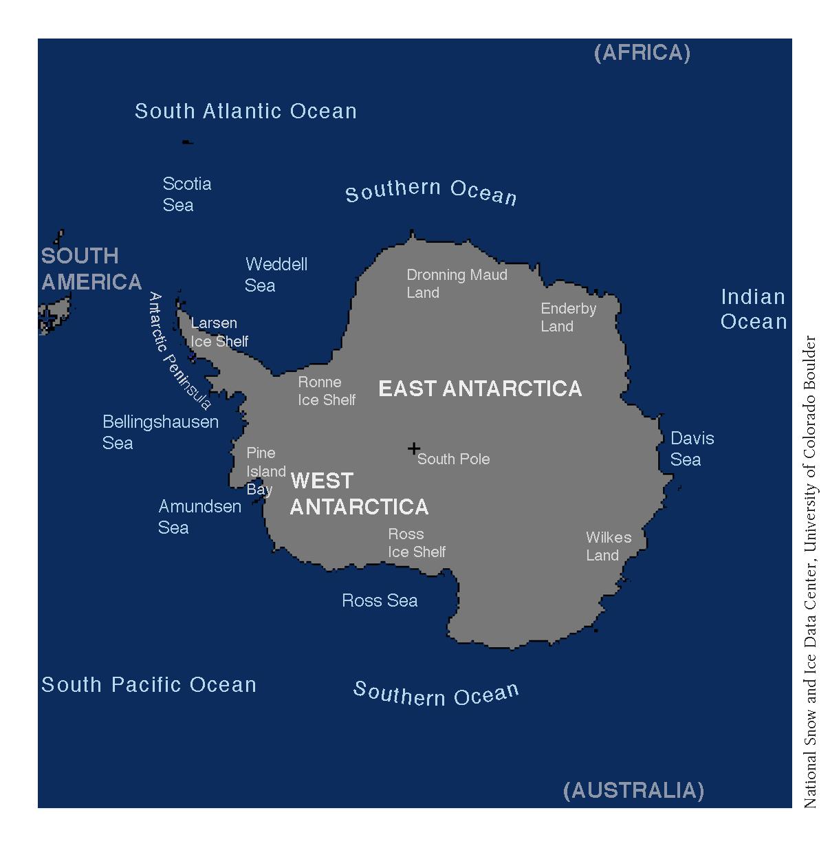 Map Of Antarctica Arctic Sea Ice News And Analysis