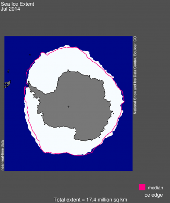 Antarctic sea ice map