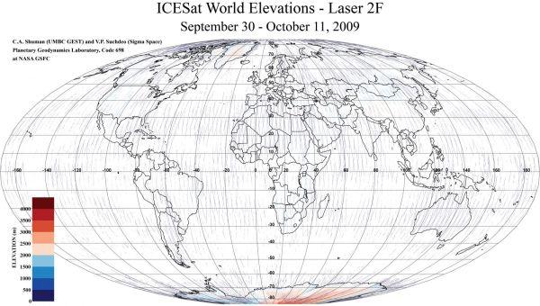 NASA ICESat/GLAS Laser 2F World Elevations | National Snow ...