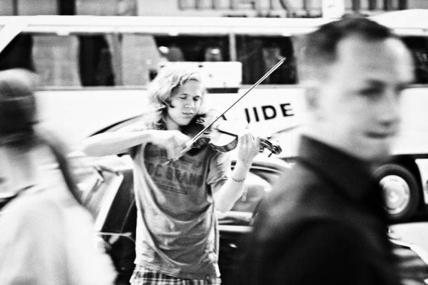 A Street musician in Berlin