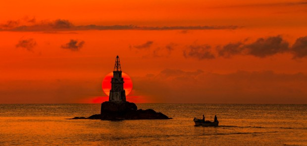 Sunrise over the Ahtopol's lighthouse on the 1st of July morning