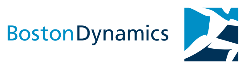 The Boston Dynamics logo shows a humanoid robot