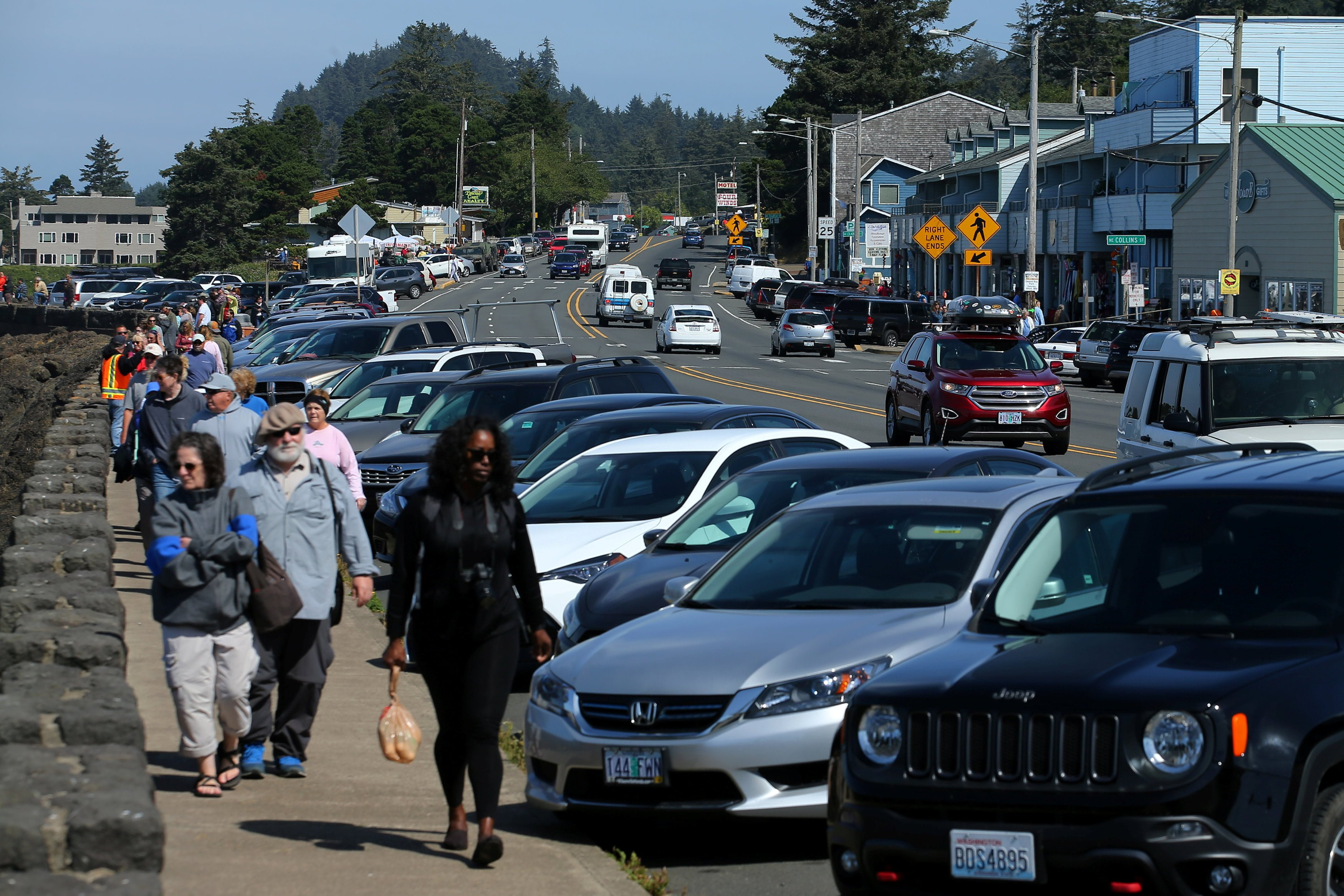 The small town of Depoe Bay prepares for the coming Solar Eclipse, Oregon, U.S., August 20, 2017.