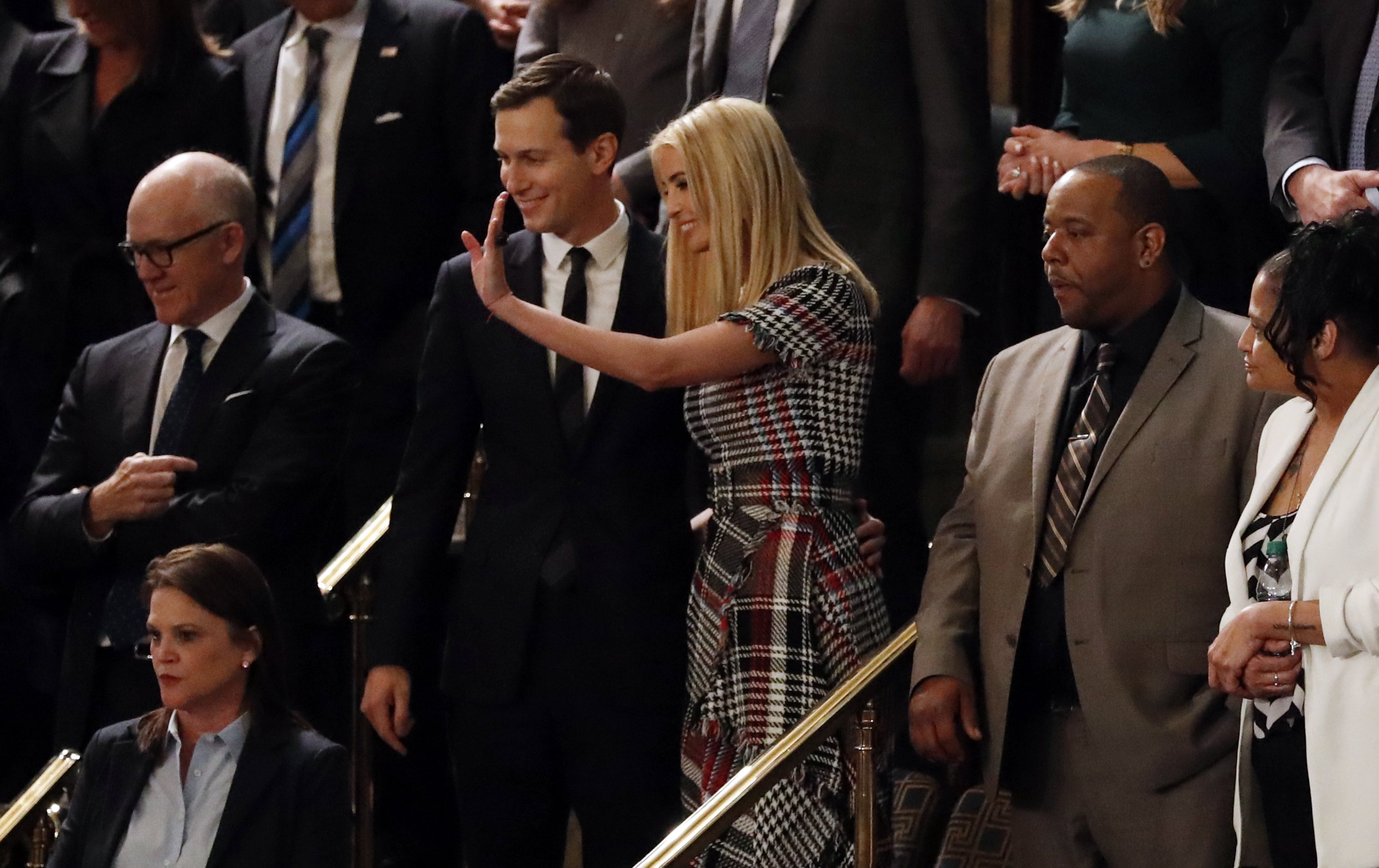 Jared Kushner and Ivanka Trump arrive for President Trump's State of the Union address in Washington