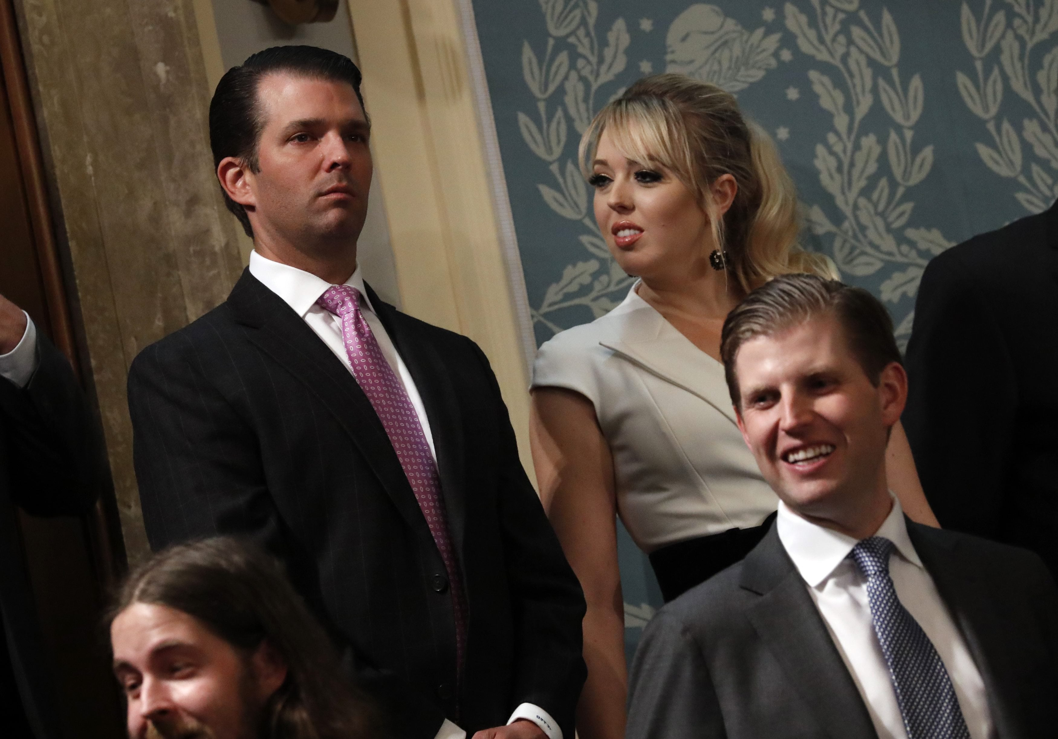 Donald Trump Jr, Tiffany Trump and Eric Trump attend President Trump's State of the Union address in Washington
