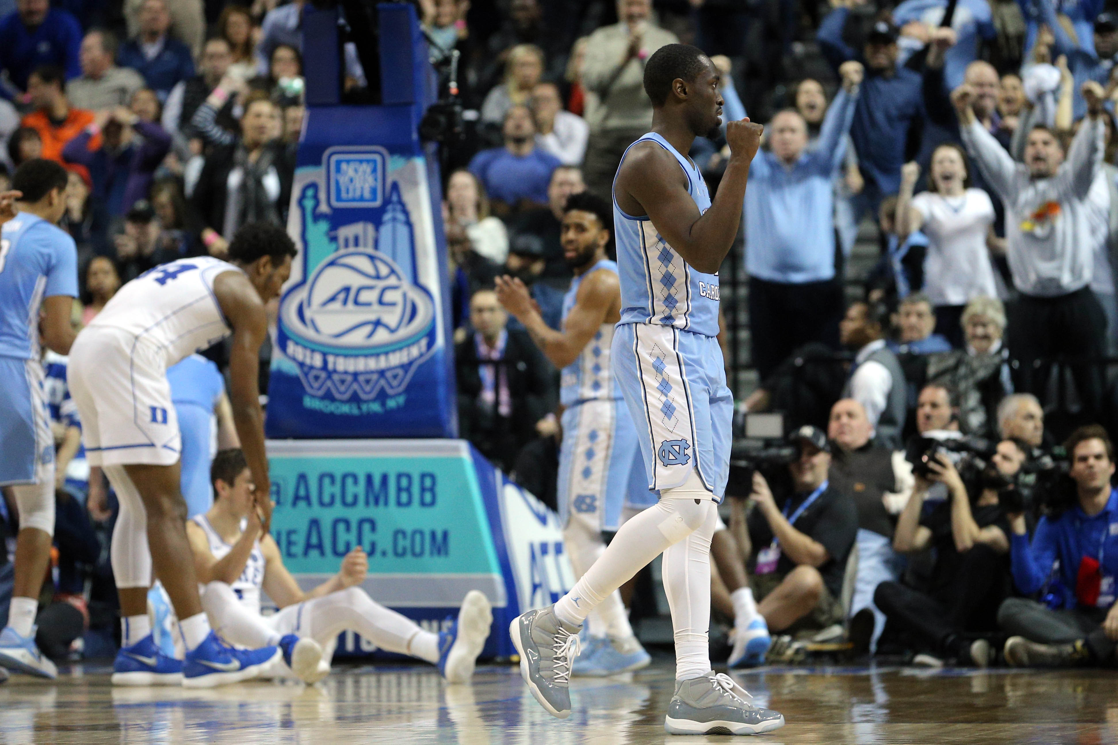 North Carolina tops Miami in ACC tournament, sets up rematch with Duke