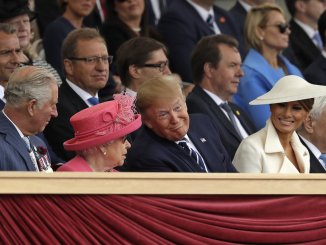 APTOPIX Britain D-Day Anniversary - Trump