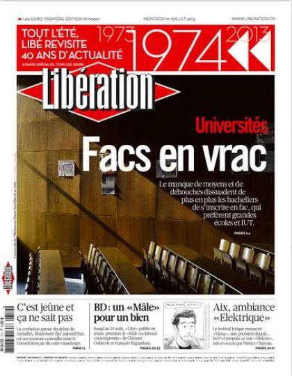 Libération Mercredi 10 juillet 2013