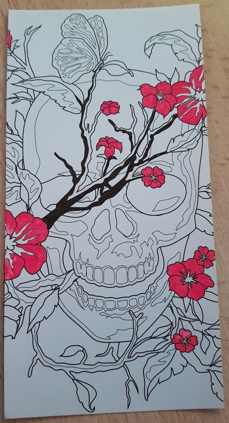 tete de mort sakura art therapy