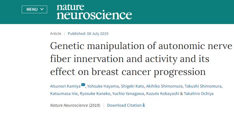 乳がんの増大、転移に自律神経が深く関与