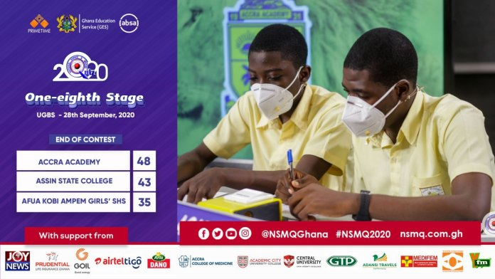 2020NSMQ: Accra Academy Qualifies to quarterfinals after a tough knockout competition 2