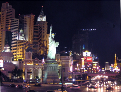 In Vegas, Lady Liberty is wearing a thong (not pictured)