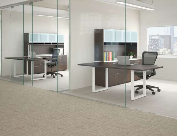 Enwork Affinity and Impression O Leg Glass Offices