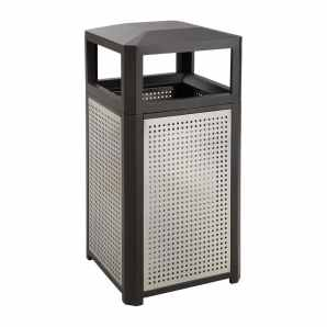 Safco Outdoor Trashcan
