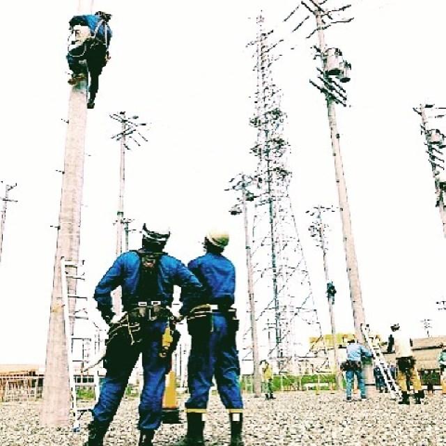 しょうちゅう-くんれん【昇柱訓練】《名・ス他》年に一回、電力会社より電気工事店向けに技術を習熟させるため、実際に昇柱をさせて鍛えること。「朝から―で、臨死体験する」