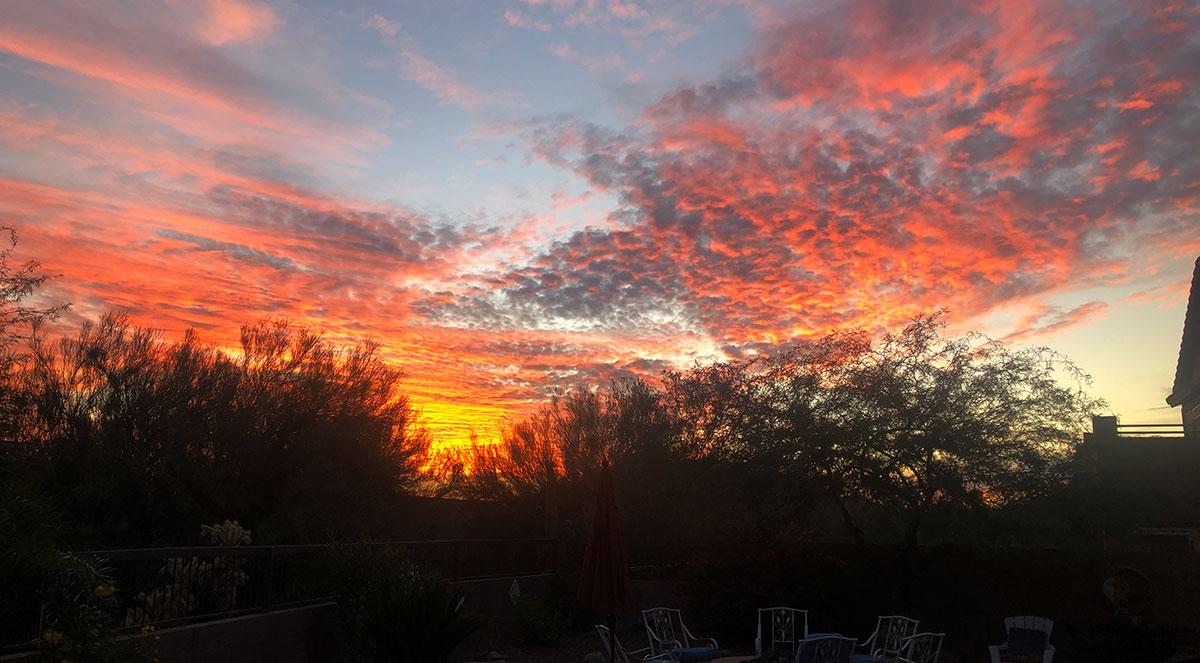 AZ October sunset