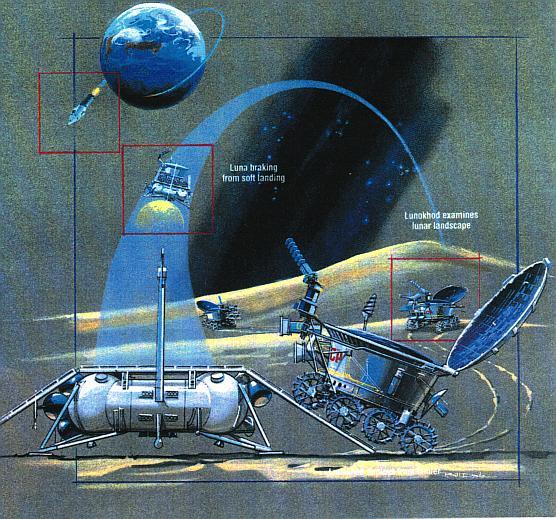 APOD: 2006 January 14 - Lunokhod: Moon Robot