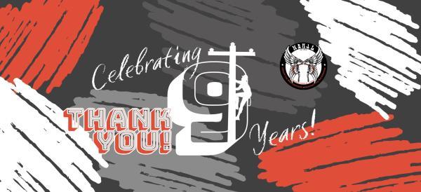 9 Years Birthday Banner