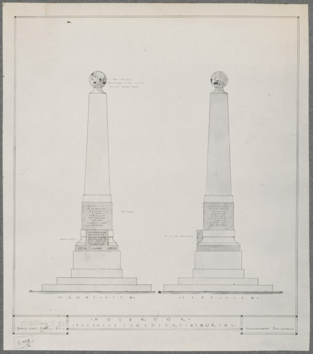 Holbrook Proposed Soldiers Memorial. Digital ID NRS18195_0000024a
