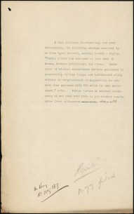 Cablegram, Battle of Verdun, translation of cable to Noumea, no date. From NRS 12060[9/4716] A16/1077, p.8