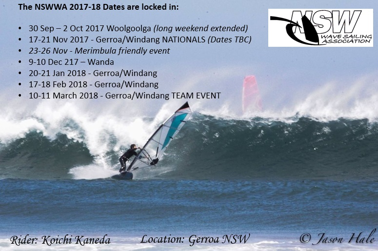 NSWWA Dates for next season