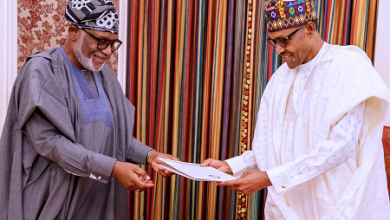 Photo of APC Governors Present Akeredolu To Buhari