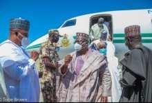 Photo of High Powered Government delegation Visits Maiduguri, Buhari vows end to terrorism