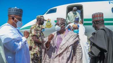 Photo of High Powered Government delegation Visits Maiduguri, Buhari vows end to terrorism