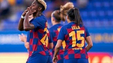 Photo of Oshoala scores brace in Barca's El Classico win